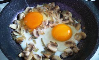 яичница с грибами с фото