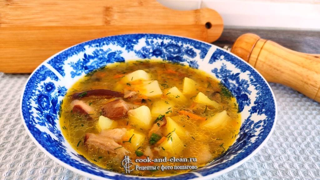 как приготовить суп из белых грибов с картошкой