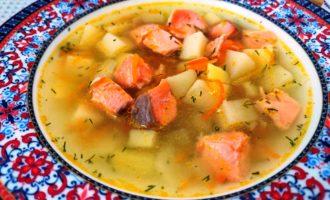рыбный суп из семги пошаговый с фото