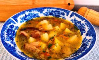суп из белых грибов с картошкой