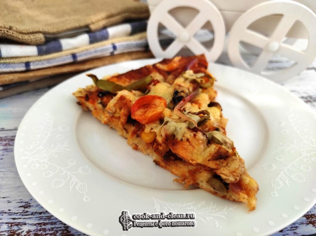 как приготовить пицца с куриным филе рецепт