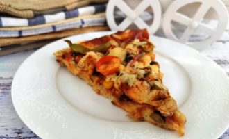 пицца с куриным филе рецепт