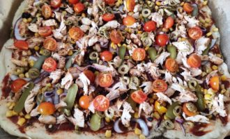 пицца с куриным филе рецепт пошаговый рецепт