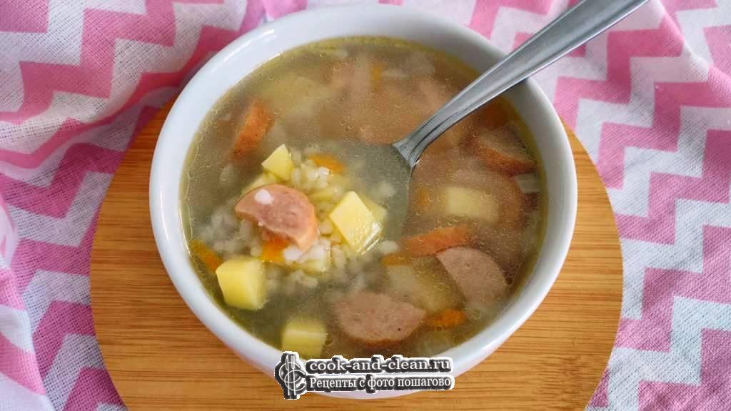 как приготовить рисовый суп с колбасой